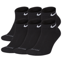 Nike 6 Pack Dri-FIT Plus Low Cut Socks - Men's - Black