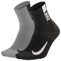 Nike Multiplier Quarter Socks - Grey / Black