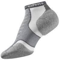 Thorlo Cushioned Heel Micro Mini Running Socks - Grey / White